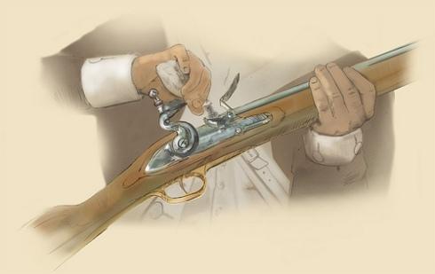 Revolutionary war-era musket