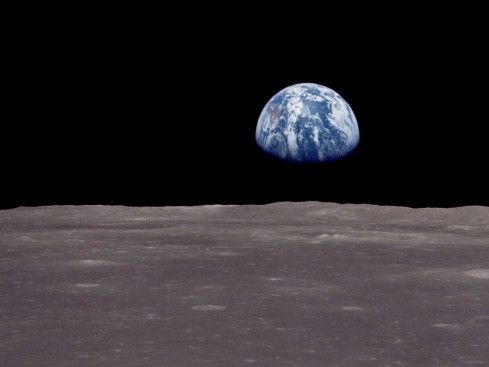 our earth from the moon