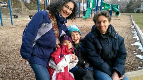 The family at the local playground.